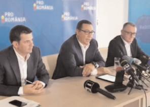 Victor Ponta şi Sorin Cîmpeanu se întâlnesc cu simpatizanţii Pro România din Târgovişte