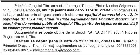 Primăria Oraşului Titu