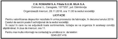 C.N. ROMARM S.A. Filiala S.U.M. MIJA S.A.