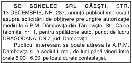 SC   SONELEC   SRL GĂEŞTI