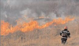 """ISU """"Basarab I"""" Dâmboviţa a intervenit în ultima săptămână la peste 60 de incendii de vegetaţie"""