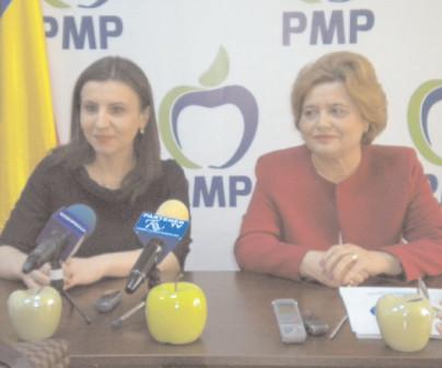 Locul trei pe lista PMP, Ioana Constantin, acţiune electorală la Târgovişte