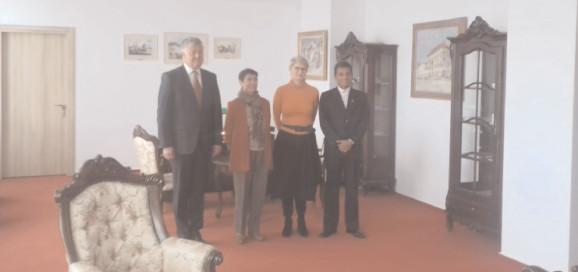 Vizita Excelenţei Sale domnul Adolfo Ramirez Tiape – consilier al Republicii Bolivariene Venezuela în Romania şi a doamnei Norma Sandoval – Secretar I la Universitatea Valahiadin Târgovişte