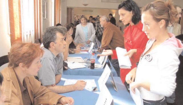 288 de persoane selectate în vederea angajării la Bursa generală a locurilor de muncă