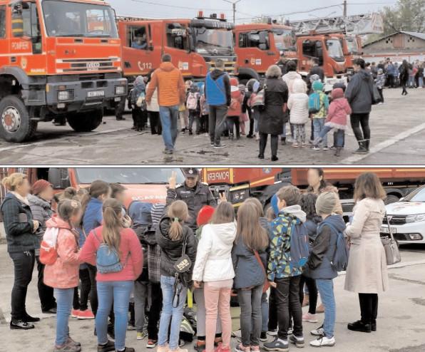 """Elevii Liceului de Arte """"Bălaşa Doamna"""" Târgovişte în vizită la ISU """"Basarab I"""" Dâmboviţa"""