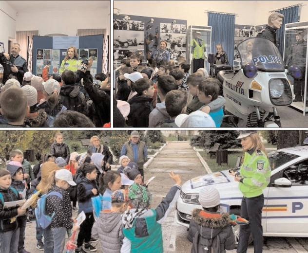 """Structura de prevenire a criminalităţii şi poliţia rutieră, alături de elevi în cadrul programului """"Şcoala altfel"""""""