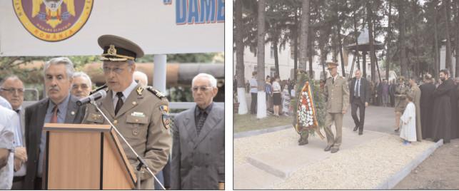 Monumentului Tuturor Eroilor Români, inaugurat la Cazarma Teiş