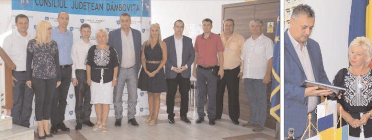 O delegaţie a Filialei Kiev de Cruce Roşie, în vizită la Consiliul Judeţean Dâmboviţa