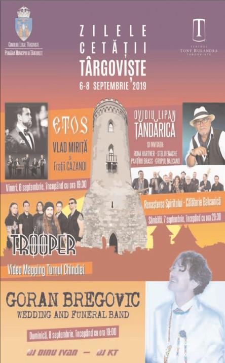 Se deschid oficial Zilele Cetăţii Târgovişte, 6-8 septembrie 2019