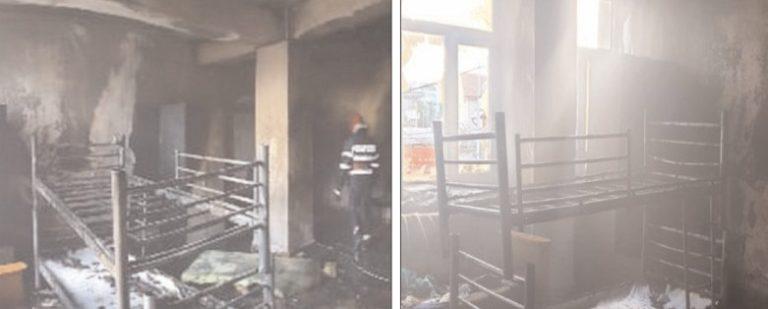 Incendiu la cantina de ajutor a săracilor, din Târgovişte