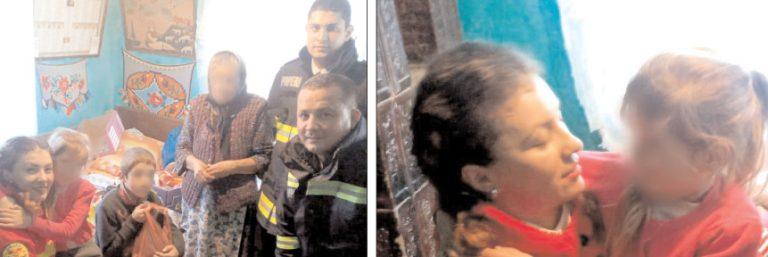 De ziua Voluntariatului, acţiune umanitară a pompierilor târgovişteni la o familie din comuna Vulcana Băi