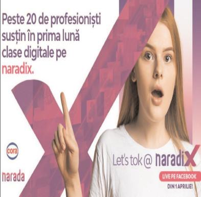 Naradix – modul de clase digitale, prin care adolescenţi din întreaga ţară îşi dau întâlnire online, timp de o oră