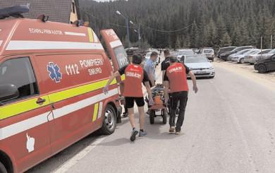 Turist accidentat în masivul dâmboviţean Bucegi