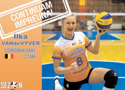 Ilka Van de Vyer, încă un sezon la CSM Târgovişte