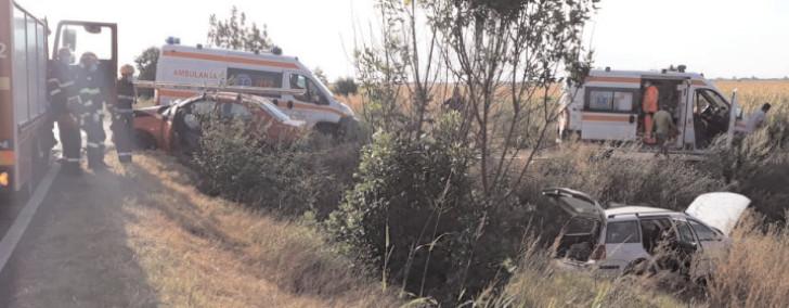 Accident rutier în localitatea Mătăsaru, cu o persoană încarcerată