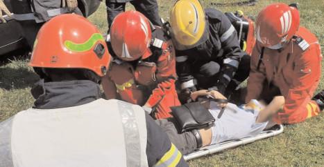 Asigurare zonă la un accident rutier produs în localitatea I.L. Caragiale
