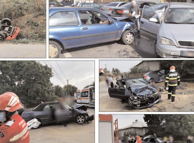 În decurs de o oră, pompierii dâmboviţeni au fost solicitaţi la trei accidente rutiere