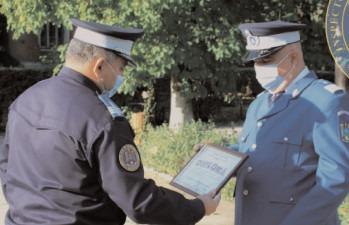 """Un jandarm, la încheierea mandatului de onoare în instituţia """"Oamenilor de arme"""""""