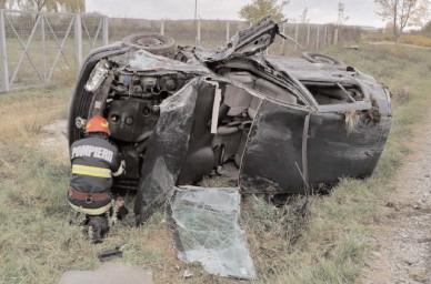 Asigurare de zonă la un accident rutier produs în localitatea Mija