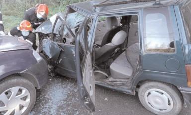 Asigurare de zonă la un accident rutier produs în localitatea Pietrari