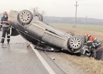 Asigurare de zonă la un accident rutier, în localitatea Lucieni