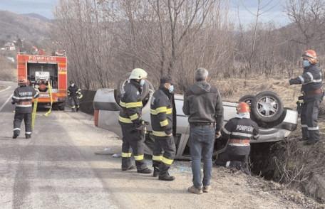 Accident rutier produs în comuna Vârfuri
