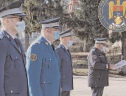 Ceremonie de trecere în corpul ofiţerilor, la Jandarmeria Dâmboviţa
