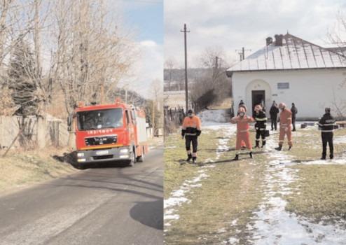 Incendiu la o grădiniţă din localitatea Valea Caselor (com. Valea Mare)