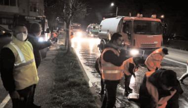 Acţiune de spălare şi igienizare a străzilor din Târgovişte