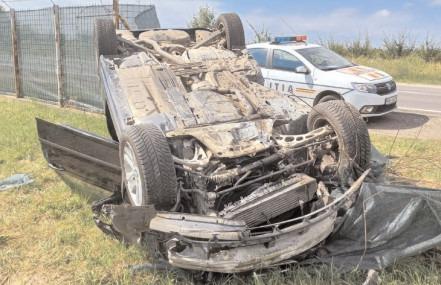 Accidente în lanţ pe DN 72A