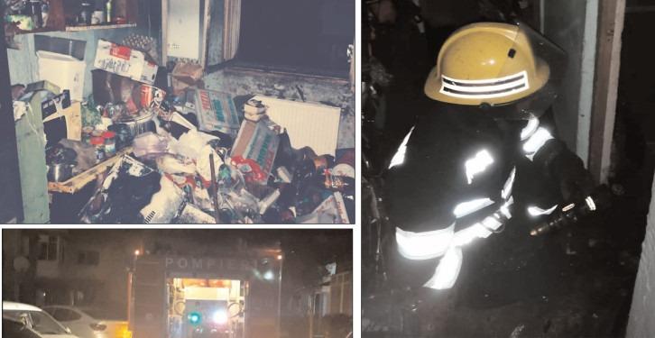 25 de persoane au fost evacuate în urma unui incendiu
