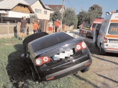 Accident pe DN 72A, comuna Voinești