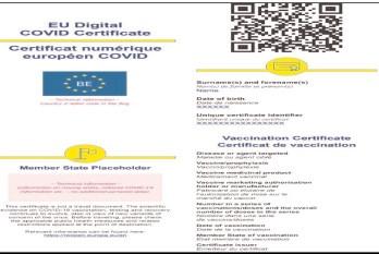 De astăzi, 13 august 2021, doar certificatele digitale vor fi recunoscute ca documente de vaccinare la trecerea frontierelor la nivelul țărilor UE