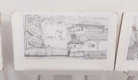 Foști elevi ai Liceului de Artă expun lucrări din mapele de admitere