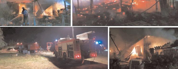 Animale mistuite de flăcări: pompierii s-au luptat, mai bine de 2 ore, cu focul