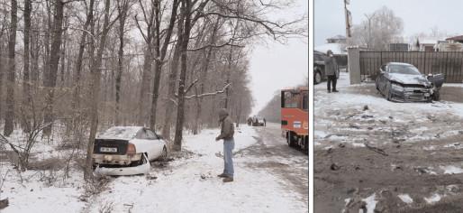 Accidente în lanţ pe drumurile din Dâmboviţa