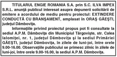 TITULARUL ENGIE ROMANIA S.A.