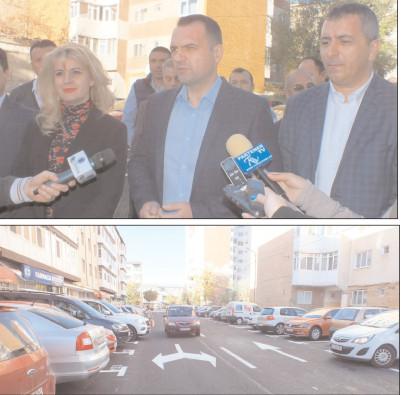 Peste 160 de locuri de parcare reabilitate şi trasate pe Strada Ion Ghica