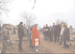 Ceremonial desfăşurat la Cimitirul Evreiesc din Târgovişte