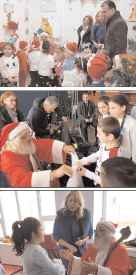 Moş Crăciun a făcut fericiţi peste 600 de copii din comuna Răzvad