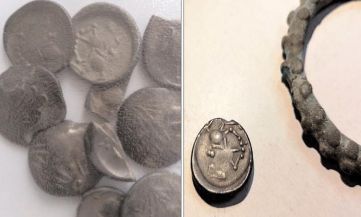 17 monede care datează din timpul dacilor, descoperite pe un câmp