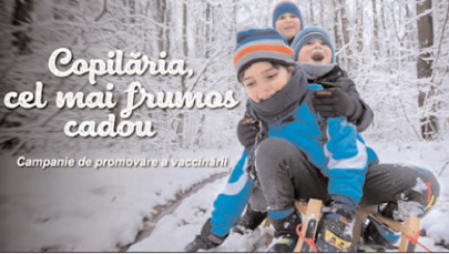 """""""Copilăria, cel mai frumos cadou"""", campania de promovare a vaccinării"""