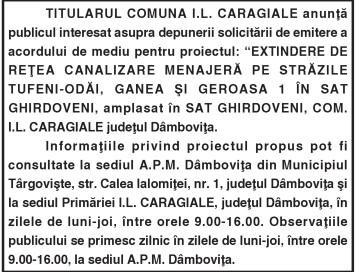 TITULARUL COMUNA I.L. CARAGIALE