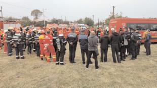 Exerciţiu cu activarea Planului Roşu de intervenţie în oraşul Găeşti