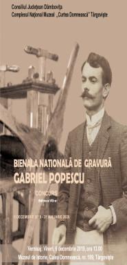 """BIENALA NAŢIONALĂ DE GRAVURĂ """"GABRIEL POPESCU"""" EDIŢIA A VII-A 2019"""