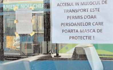 Reguli stricte şi măsuri preventive împotriva infecţiilor cu COVID-19 în transportul public local