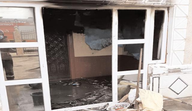Incendiu la o casă din comuna Băleni
