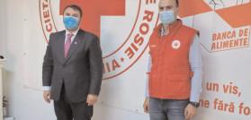 """Crucea Roşie Dâmboviţa prin donaţia primită de la Compania Naţională de Transport al Energiei Electrice """"Transelectrica a sprijinit Secţia Boli Infecţioase, cu o serie de materiale necesare în lupta cu COVID-19"""