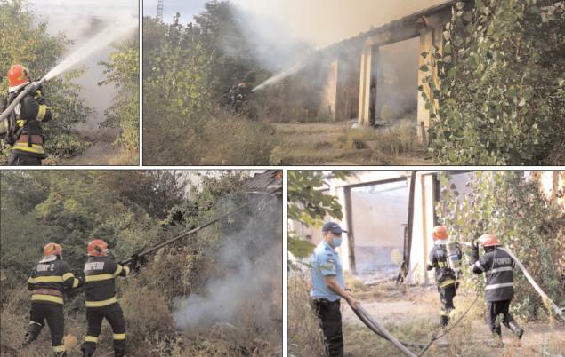 Incendiu la o clădire dezafectată din municipiul Târgovişte
