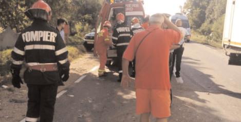 Asigurare de zonă la un accident rutier produs în comuna Voineşti
